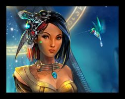 Pocahontas detail by IvannaMatilla