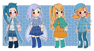 Pokemon Gijinka Adopts [OPEN] by sei-chizu
