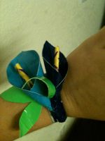 duct tape calla lilies by DustyGnome