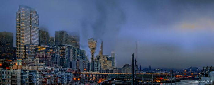 Fog in the City by UrbanRural-Photo