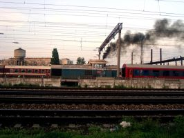 Smoking locomotive by zmILeY