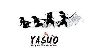 Yasuo White Poster by Gwydiion