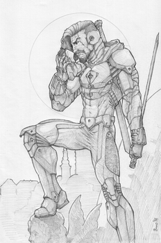 THE WATCHER - Pencils by lafing-jack