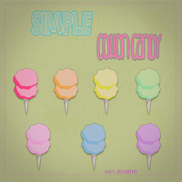 Simple Cotton Candy Png by Waatt