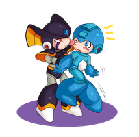 Commission: Rockman and Forte chibis by Soul-Rokkuman