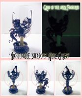 Nightmare Shadows Wine Glass by ForesakenFaerie