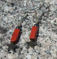Red Jasper and Hematite Earrings by EmMakesStuff
