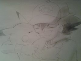 Ash and Pikachu by ScribbleSkyoatic