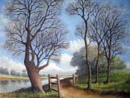 Landscape Oil Painting by Boias