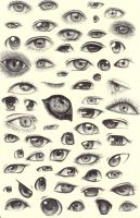 Eye Sketches by ShadowSeason