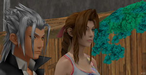 Xehanort and Aerith by Hatredboy