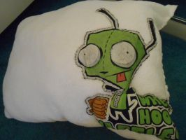My AWESOME Gir Pillow by TheWorstUsername