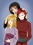 Sand Siblings and Shikadai by Misfitts