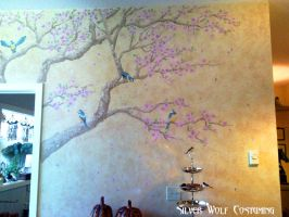 Sakura Tree Mural by SilverWolfCostuming