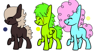 Pony Adoptables 1 (Open) by GhostAdopt