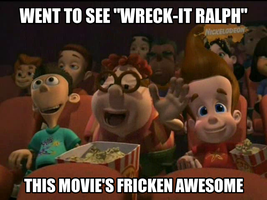 Jimmy, Carl and Sheen Went to See Wreck-it Ralph by thekirbykrisis