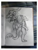 Dragonness concept sketches by AlieTheKitsune