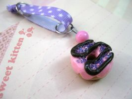 + Cell Charm - Pink Donut + by Blackberry-Sage