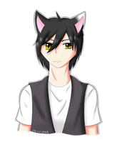 My cat as a human by reku89