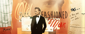 Old fashioned man sign by theskyinside