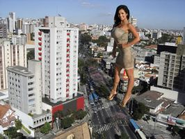 Giant Denise Milani at Belo Horizonte, Brazil by bcgfdfshggd