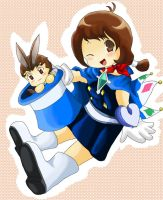 Chibi Apollo and Trucy by Hyrika