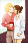 Enjolras/Eponine art swap with Hiyas by Barriss-Offee