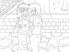 Walking Home lineart by CrayonFox
