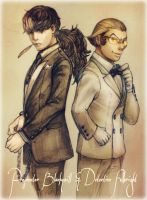 Blackquill and Fulbright in Tuxedo by dagi00