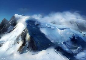 Snowy Mountain by kevywk