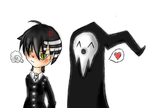 kid and shinigami by RetroTrickster