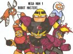 Robot Masters ASSEMBLE!!!!! by Baragon1314