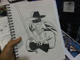 COMICON sketch Zorro by RyanOttley