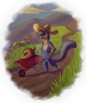 Gardener Squirrel by SucittarSucivron