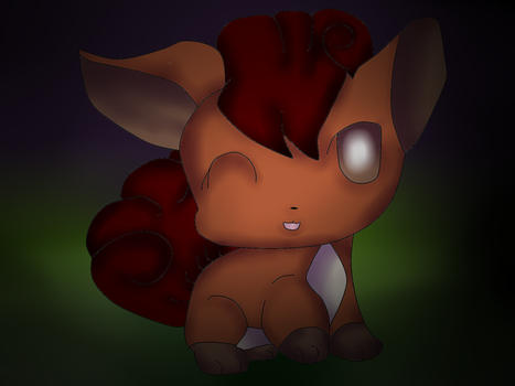 Chibi Vulpix by Glaceonmaster89