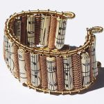 Bronze Guitar String Cuff by Tanith-Rohe