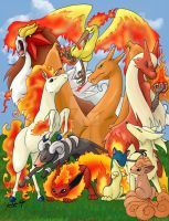 Fire Pokemon by FireEnze