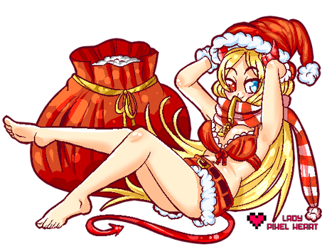 Saltybet Mascot Christmas Sprite by ladypixelheart