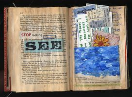 altered book pp. 9 - 10 by Lauraphay