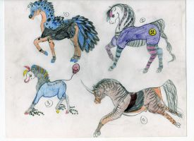 Horse Designs 26 by joelieisqueen