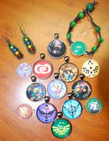 Legend of Zelda jewelry by zeldalilly