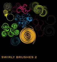 Swirly Brush set 2 by wilmacki