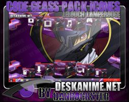 Lelouch Lamperouge Pack Icons by Danrockster