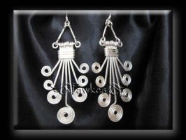 egyiptian style wire earrings by Fawkesgirl