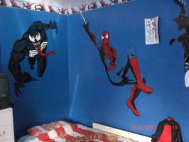 Spiderman Wall art 2 by snakes23