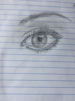 Realistic eye attempt  by lridescence