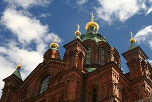 Uspenski cathedral, Helsinki by Faeriedivine