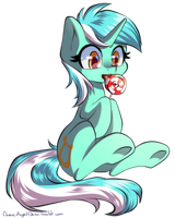 Lyra with a lollipop by ChaosAngelDesu