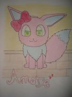 Amore the pink Eevee by NIGHTSandTAILSFAN