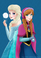 Elsa and Anna by Dolly-wrath